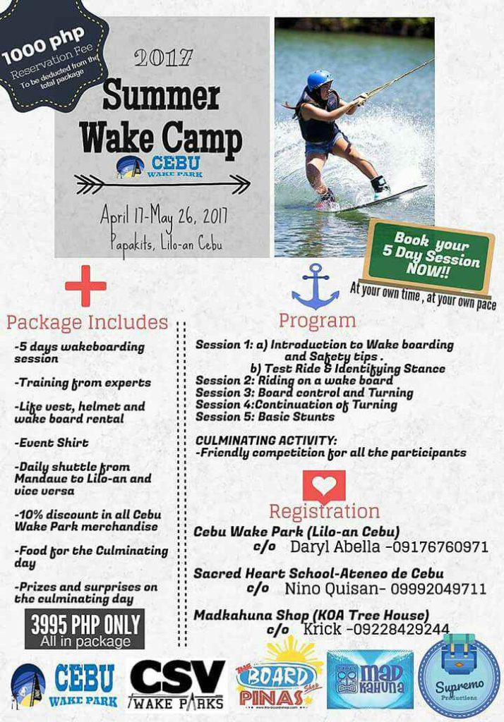 Summer Classes in Cebu - Wakeboarding