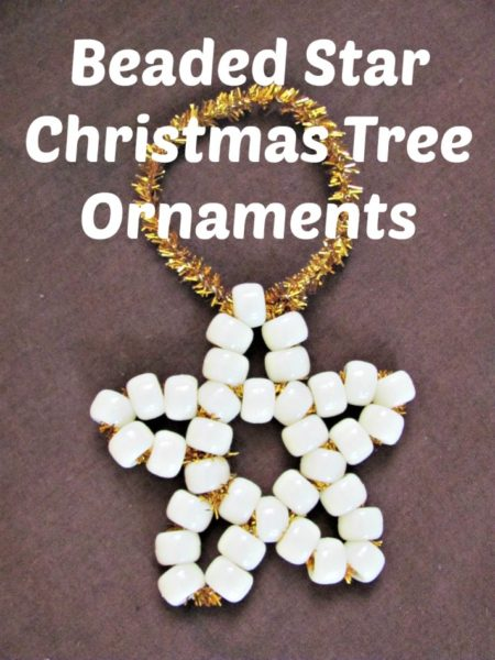 Christmas Ornaments to Make with the Kids - Beaded Start Ornaments