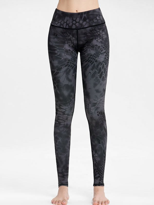 High Waisted Printed Workout Leggings