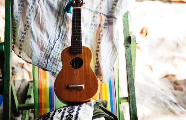 Rainy Day Family Activities - learn to play ukulele