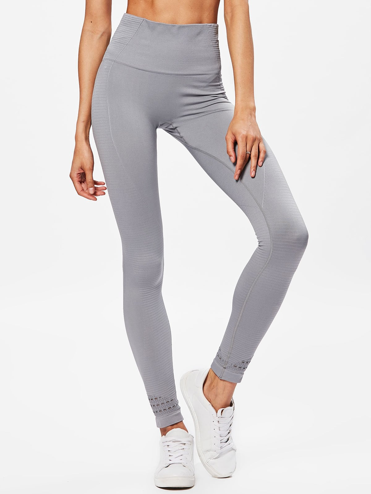 Silver Performance Moto High Waisted Leggings