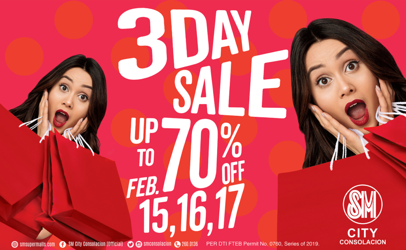 SM CITY CONSOLACION BRINGS 3-DAY SALE
