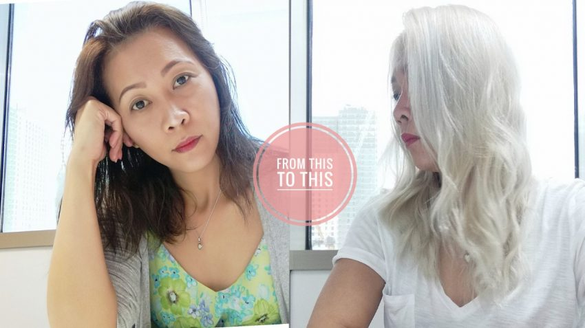 How to Dye Asian Hair White - After Photos