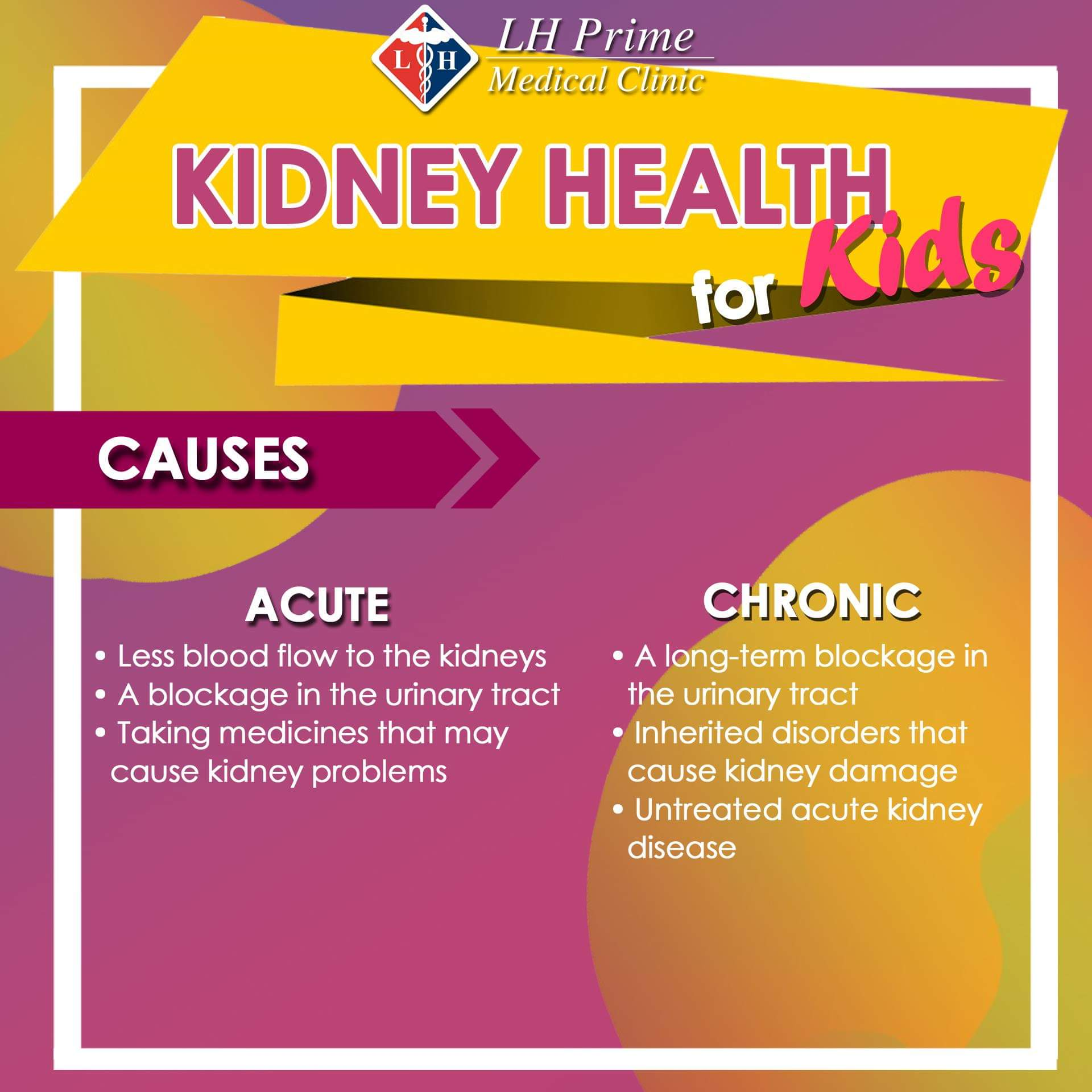 Kidney Health for Kids - Causes