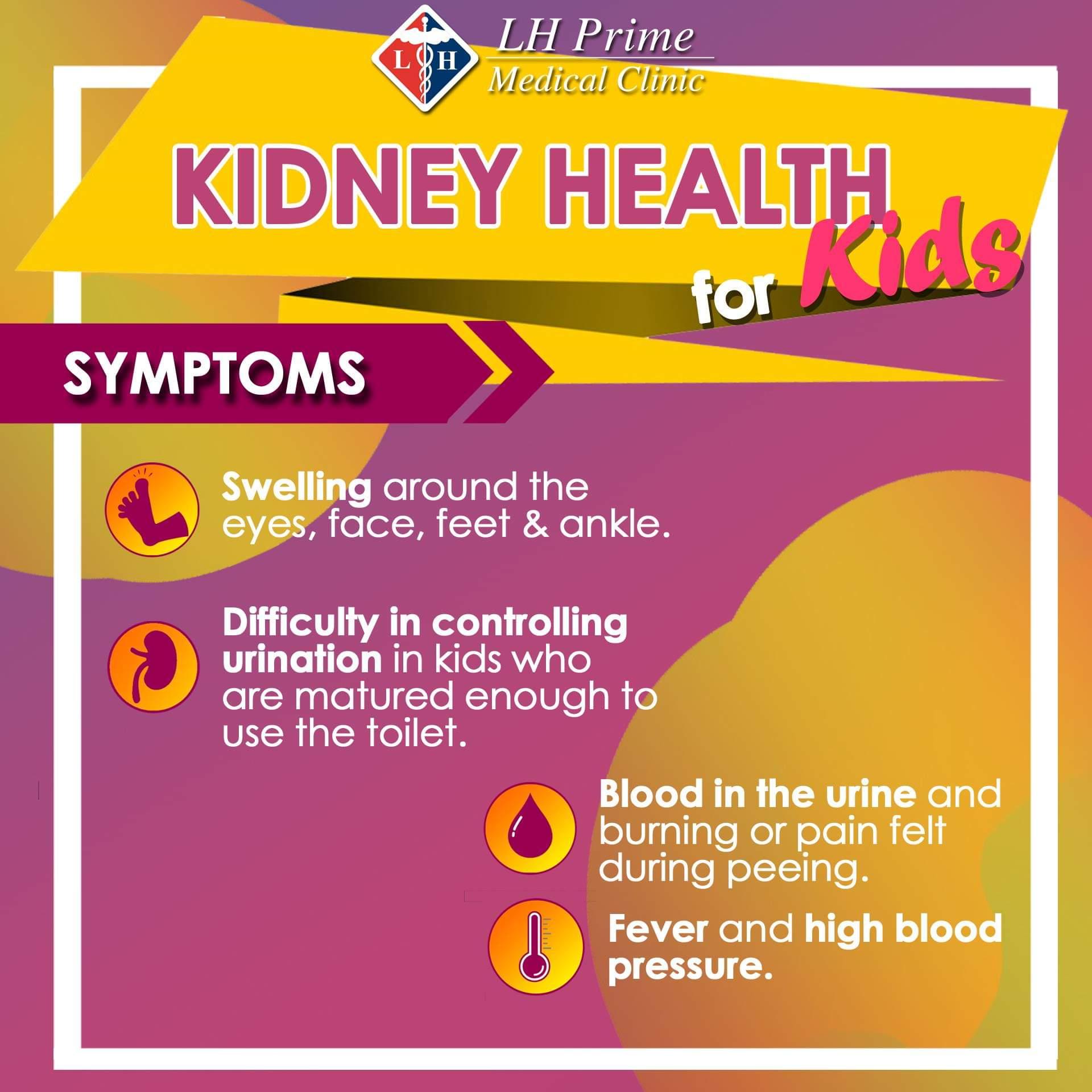 Kidney Health for Kids Symptoms