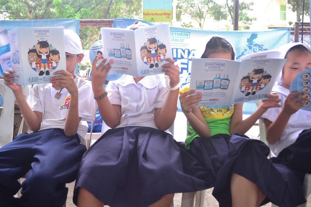 Lamoiyan Corporation's Licealiz Head Lice TreatmentShampoo rolls out Kilusang Kontra Kuto Year 4